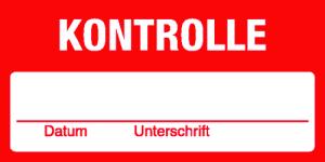 Quality assurance - control - foil self-adhesive - 60 x 30 mm - content: 100 pieces