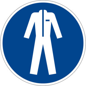 Mandatory sign - Use protective clothing - Plastic - Ø 5 cm