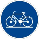 Use the bicycles sign