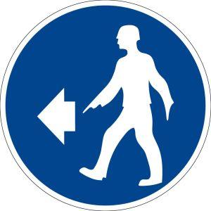 Mandatory sign - direction of movement - plastic - Ø 5 cm