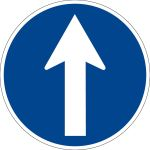 Billing sign - direction indication