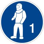 - Use protective clothing type 1