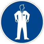 Procurement sign - Wear protective clothing