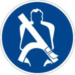Billing symbol - attach the seatbelt