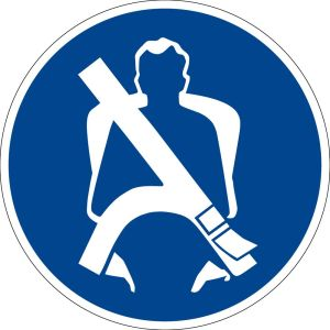 Mandatory sign - Seat belt - Plastic - Ø 5 cm