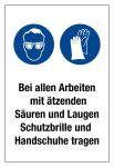 Prohibition sign - Wear protective goggles and gloves