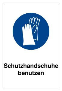 Mandatory sign - use protective gloves - plastic - 20 x 30 cm