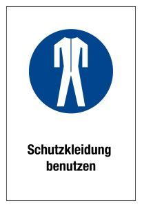 Mandatory sign - Use protective clothing - Plastic - 20 x 30 cm