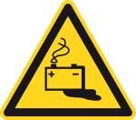 Warning Sign - Warning of battery hazards