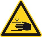 Warning signs - warning of hand injuries