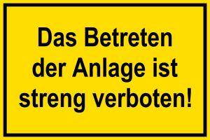 Warning Sign - Do not enter! - Plastic - 20 x 30 cm