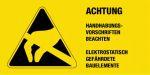 Warning label - Caution Observe handling instructions