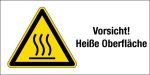 Warning sign - Caution! Hot surface