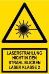 Warning sign - laser radiation class 2