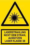 Warnschild - Laserstrahlung Klasse 3B