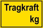 Warning sign - Carrying force kg