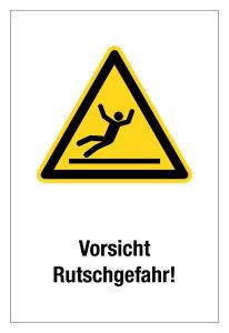Warning sign - Caution Slipping hazard! - Plastic - 20 x 30 cm
