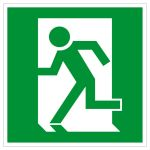 Emergency exit sign - Emergency exit left hand