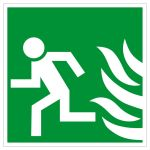 Escape sign - Only open / left in case of emergency