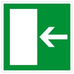 Emergency escape sign - escape route left / right