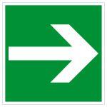 Escape sign - directional arrow left / right