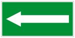 Escape sign - directional arrow left / right