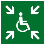 Escape route sign - Preliminary evacuation point