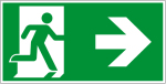 Escape route sign - escape route on the right