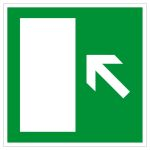 Escape route sign - escape route to the left