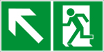 Escape route sign - escape route to the left