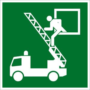 Escape Road Sign - Rescue Exit - Plastic - 5 x 5 cm