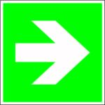 Escape sign - directional indication straight
