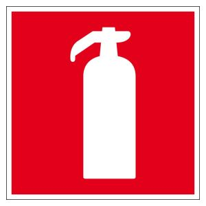Fire protection sign - fire extinguisher - plastic - 5 x 5 cm