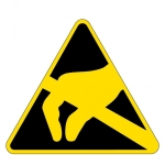 Warning sign - electronic protection zone