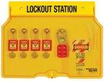 Locking station with contents 4 Zenex locks