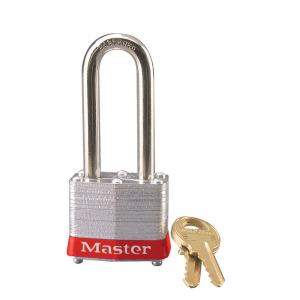 Padlock Series 3 - Shackle height 51 mm - Keyed Different - red