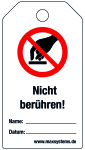 Lock label - Do not touch! - plastic 0.5 mm - 80 x 147 mm