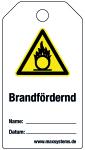 Locking label - fire-promoting - plastic 0,5 mm - 80 x 147 mm