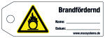 Locking label - fire-promoting - plastic 0.5 mm - 160 x 55 mm