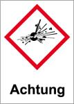 GHS Labeling - Warning, explosive substances
