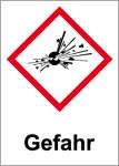 GHS Labeling - Danger, explosive substances