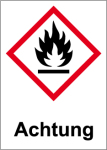 GHS Labeling - Warning, flammable substances