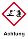 GHS Labeling - Warning, corrosive