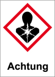 GHS Labeling - Warning, harmful to health