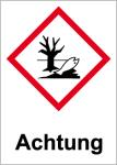 GHS Labeling - Warning, environmentally hazardous