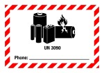 Dangerous goods mark - UN 3090 Phone, for small packages