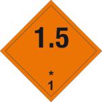 Dangerous goods markings - Explosive substances 1.5