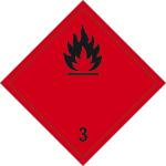 Dangerous goods mark - Flammable liquids