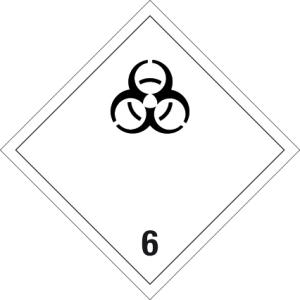 Danger sign - infectious substances - foil self-adhesive - 5 x 5 cm