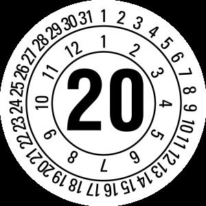 Annual test report 2020 JP520 | Custom color - self-adhesive foil, white & black -? 10 mm - 50 pcs